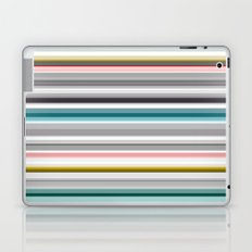 grey and colored stripes Laptop & iPad Skin