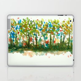Silent Woods, Abstract Watercolors Landscape Art Laptop & iPad Skin