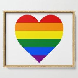 Rainbow Heart Serving Tray