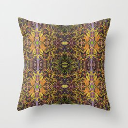 Fall Cat Pattern Throw Pillow