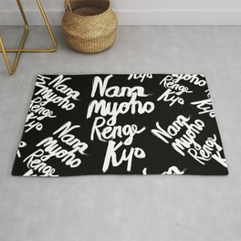 Nam Myoho Renge Kyo - Light on Dark Rug
