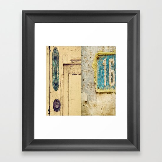 The Door Framed Art Print