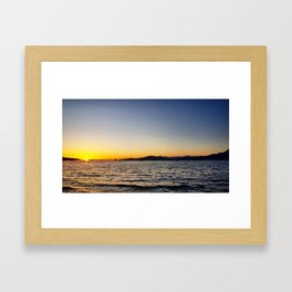 Kitsilano Sunset Framed Art Print