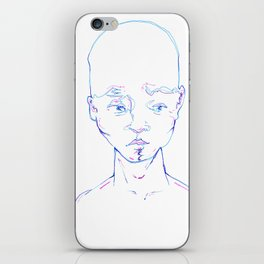 Troubled Young Man iPhone Skin