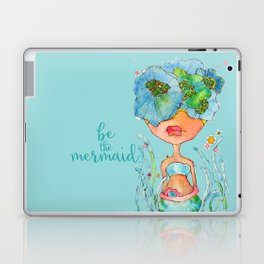 blue girl -- she's a gentle one. Laptop & iPad Skin