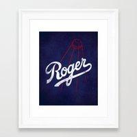 dodgers Framed Art Prints featuring Roger That! by Robert Farkas