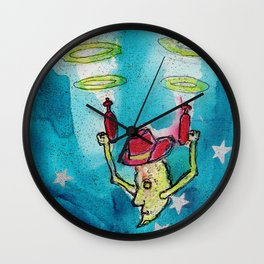 Cowboy Moon Wall Clock