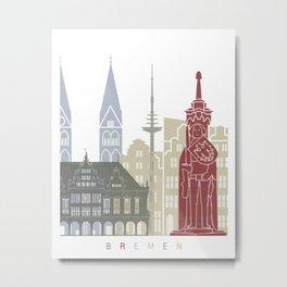 Bremen skyline poster Metal Print