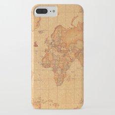 World Map LeaTher iPhone 7 Plus Slim Case