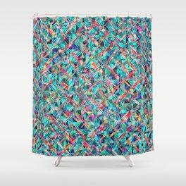 Diamond Prism Pattern Shower Curtain