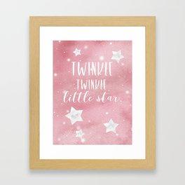 Twnikle twinkle Framed Art Print