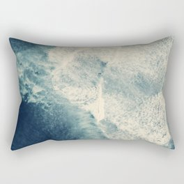 Ice Blue Surf Rectangular Pillow