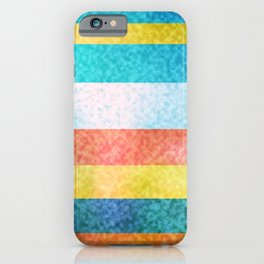 Frosted Glass Striped Pattern Summery Colors iPhone Case