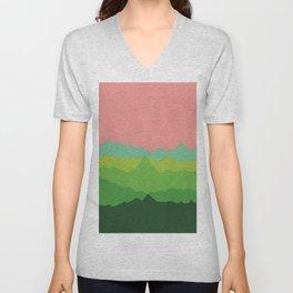 Green Mountains I Unisex V-Neck