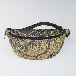 "遠望 series -""Gold Valley"" - Linocut Fanny Pack"