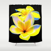 bow Shower Curtains featuring Flower Bow by Christa Bethune Smith
