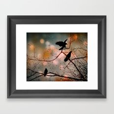 Rainy Day Crows Framed Art Print