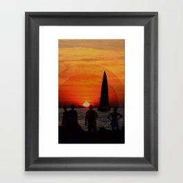 The Set Framed Art Print