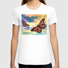Flying Monarch Butterflies T-shirt