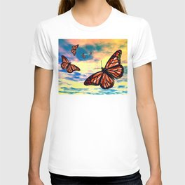 Flying Monarch Butterflies T-shirt