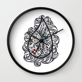 Oriental Wave Wall Clock