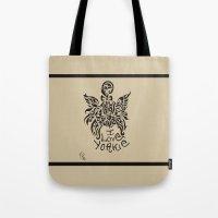 yorkie Tote Bags featuring LOVE YORKIE by Elisa Daniele
