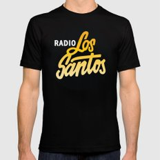 Radio Los Santos Mens Fitted Tee SMALL Black