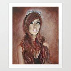 Vivian - Steam Girl Art Print