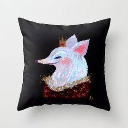 Fox King! Throw Pillow