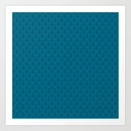 Blue (Bleu) Tres Petit Geometric Pattern Art Print