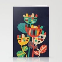 budi Stationery Cards featuring Wild Flowers by Picomodi