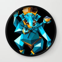 ganesha Wall Clocks featuring Ganesha by Gaetano Leonardi