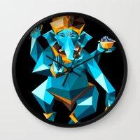 ganesha Wall Clocks featuring Ganesha by Gaetano Leonardi
