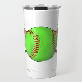 Funny Don't Make Me Use My Softball Mom Voice Travel Mug