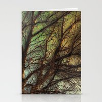 psychadelic Stationery Cards featuring Psychadelic Tree by Jeanne Hollington