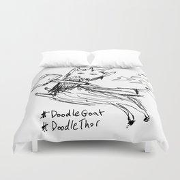 DoodleThor, Goat of Thunder Duvet Cover