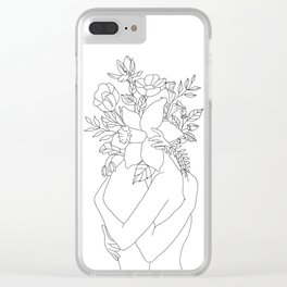 Blossom Hug Clear iPhone Case