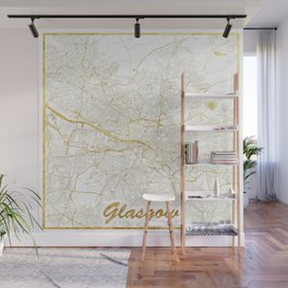 Glasgow Map Gold Wall Mural