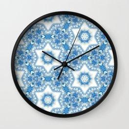 Abstract colorful kaleidoscope seamless pattern. Wall Clock