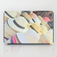 hats iPad Cases featuring Hats by Eva Lesko