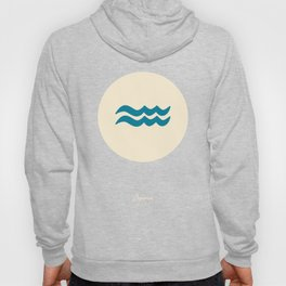 Aquarius Symbol Blue Hoody