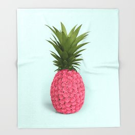 PINEAPPLE ROSES Throw Blanket