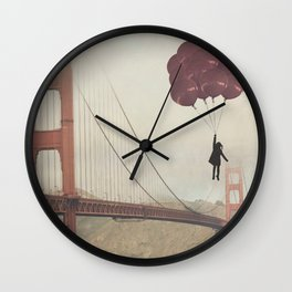 Floating over the Golden Gate Wall Clock