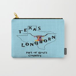 Texas Longhorn God's Country Carry-All Pouch