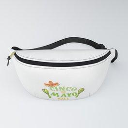Happy Cinco de Mayo Y'All Mexican Holiday Sombrero Fanny Pack