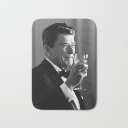 President Reagan Making A Toast Bath Mat