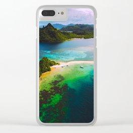 Scenic Tropical Island Retreat Clear iPhone Case