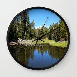 Morning Serenity At The Yellowstone NP Wall Clock