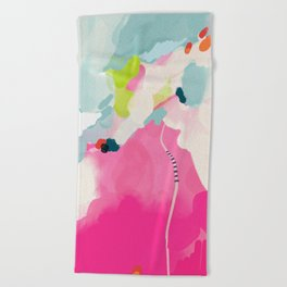 pink sky II Beach Towel