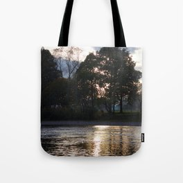 Sunset over River Ness Inverness Tote Bag